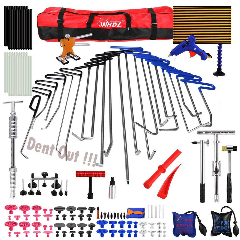 Hook Tools Set Dent Removal Paintless Dent Repair Car Dent Puller Lifter glue tab TOP Tap Down Reflector Board Hand Tool Set