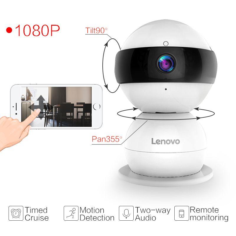 Lenovo WiFi IP Camera Snowman SR Wireless Mini HD 1080P Monitor PTZ cctv securi Video Surveillance cctv Camera watch baby