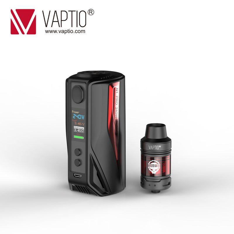 KIT Vaptio N1 Pro LITE Kit 200W cigarette électronique 2.0ML Frogman réservoir 240W boîte Vape Mod 510 fil 2*18650 batterie
