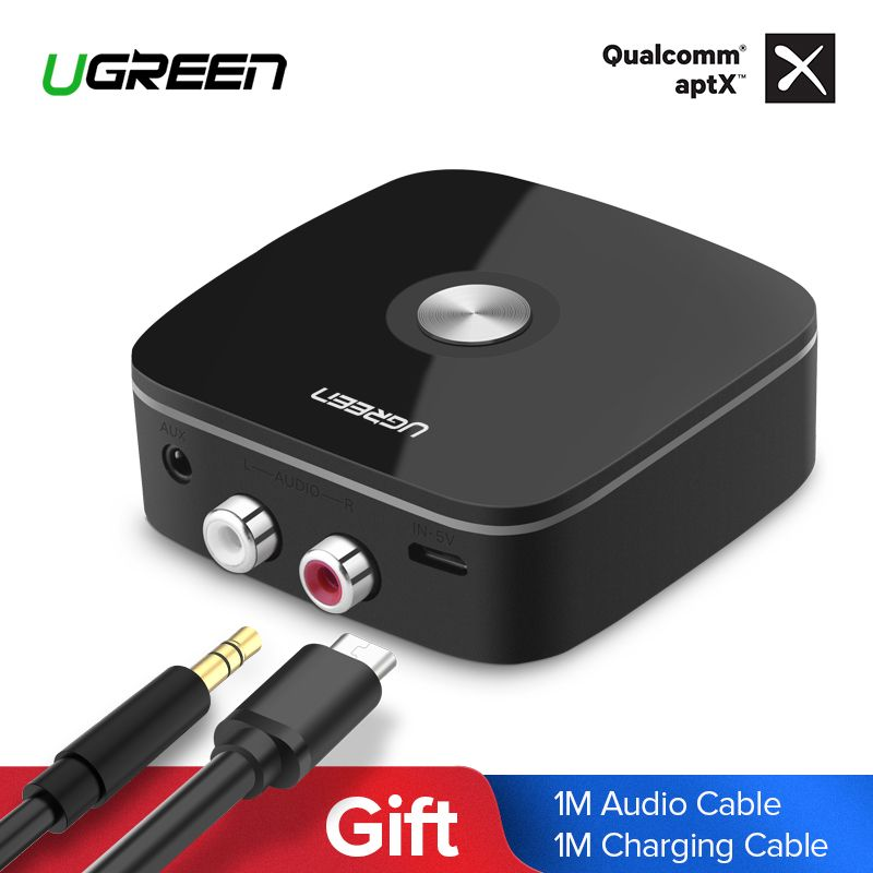 Ugreen Bluetooth Receiver 4.2 2RCA 3.5mm Jack Aux Audio Receiver Wireless Adapter Music for Headphone Car Bluetooth Receiver