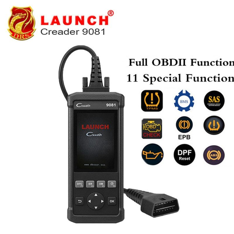 Launch DIY Scanner CReader 9081 Full OBD2 Scanner/Scan Tool Diagnostic OBDII Code Reader+ABS Bleeding+Oil+EPB+BMS+SAS+DPF CR9081