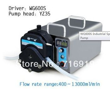 WG600S YZ35 pompe péristaltique tête PPS Lab pompe péristaltique électrique industrielle faisant des pompes à liquide de fluide d'eau 400 ~ 13000 ml/min