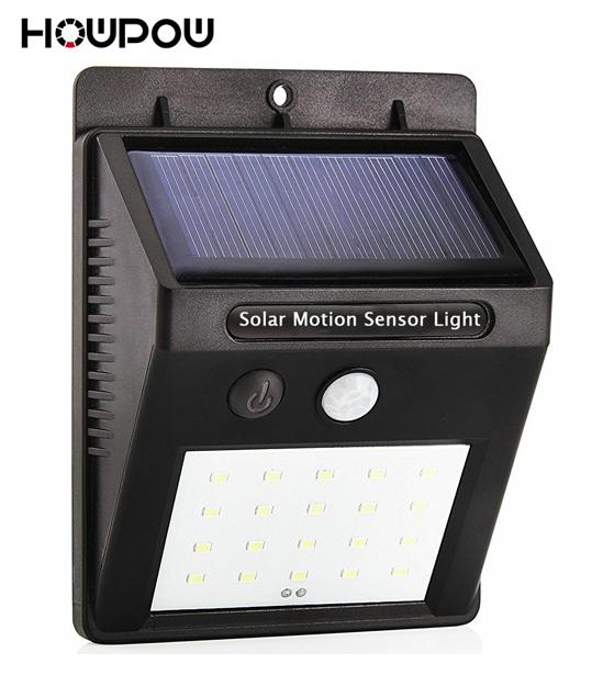 Imperméable à l'eau 6/10/16/20 LED Solaire Lumière Solaire Puissance PIR Motion Sensor LED Jardin Lumière Extérieure voie Sens Solaire Lampe Murale