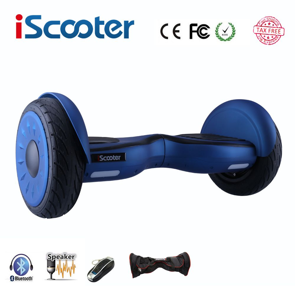IScooter hoverboard 10 zoll bluetooth zwei rädern intelligente selbstausgleich elektroroller elektrisches skateboard mit lautsprecher giroskuter UL2722