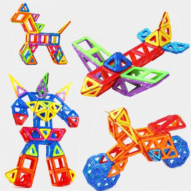 Ensemble Standard Taille Designer Magnétique Jouet Enfants Jouets Éducatifs ABS En Plastique Creative Briques Éclairent Blocs de Construction Magnétique