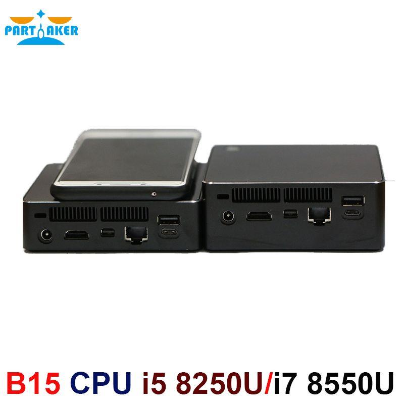 Newest Kaby Lake R 8th Gen Mini PC Win 10 Intel Core i5 8250U i7 8550U UHD Graphics 620 5G AC Wifi Bluetooth HDMI Mini Computer