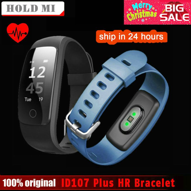 Hold Mi ID107 Plus HR Smart Band <font><b>Fitness</b></font> Bluetooth Bracelet Activity Sports Tracker Wristband with Heart Rate Tracker