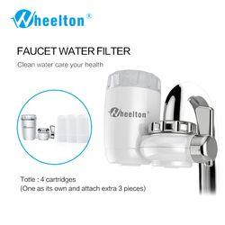 Wheelton 8 capas purificación Filtro de cerámica para el filtro purificador de agua cocina grifo conectar extra 3 cartuchos Freeshipping