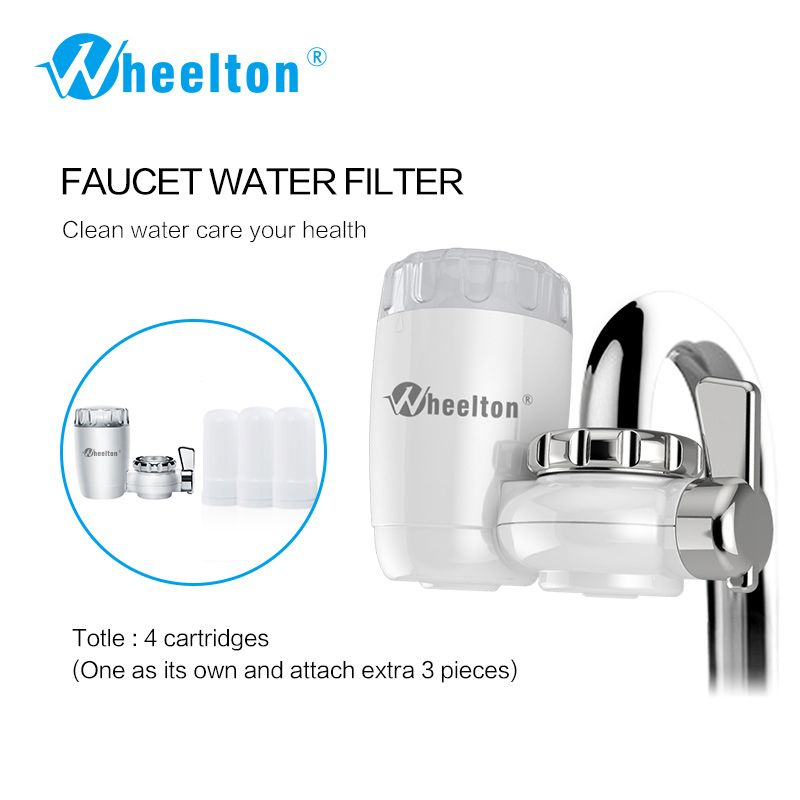 Wheelton 8 layers purification Ceramic filter for water filter purifier kitchen faucet Attach extra 3 cartridges Freeshipping