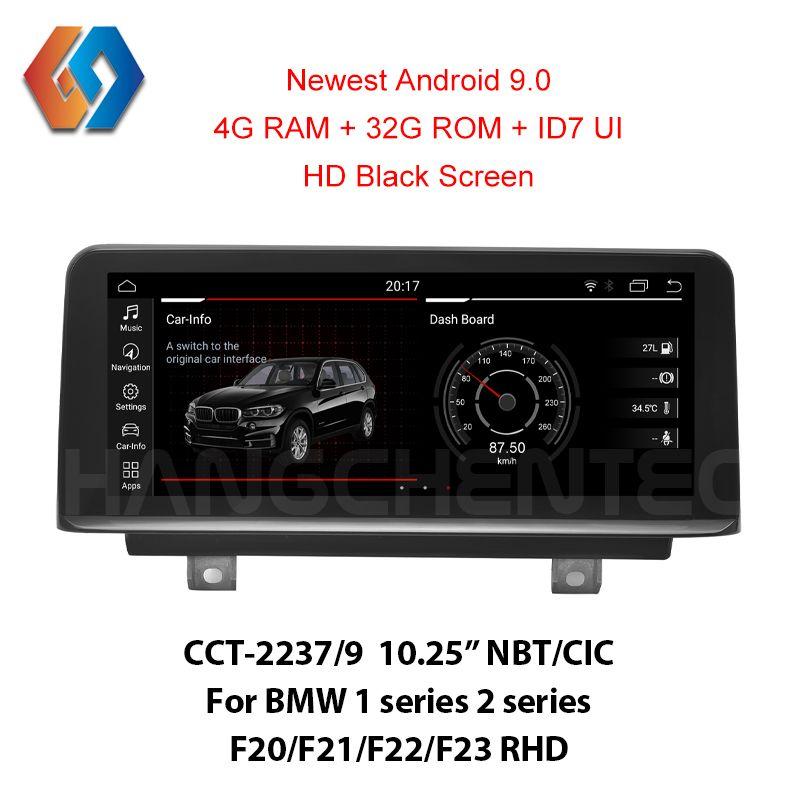 Genial Creation für RHD BMW 1 2 serie F20 F21 F22 23 Android 9.0 Höchste OS 4G Ram mit HD schwarz Bildschirm 1920x720 Auflösung 37