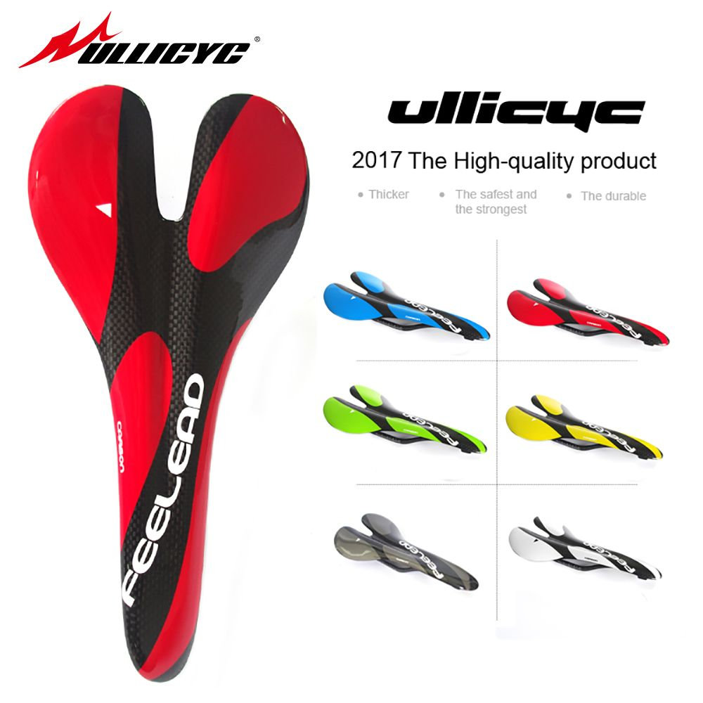 ULLICYC NEW MTB Mountain Bike Bicycle Cycling carbon Saddle Seat colorful Bicycle Saddle free shipping ZD182