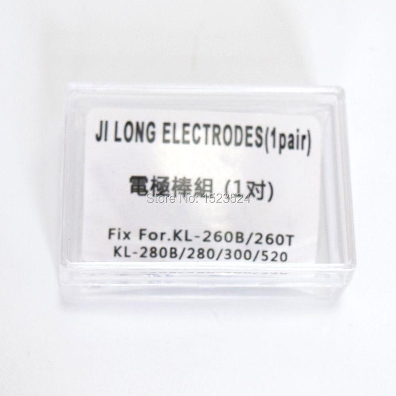 Free Shipping 1 Pair Electrodes for Jilong Fusion Splicer KL-260B KL-260T KL-280 KL-280G KL-300 KL-520