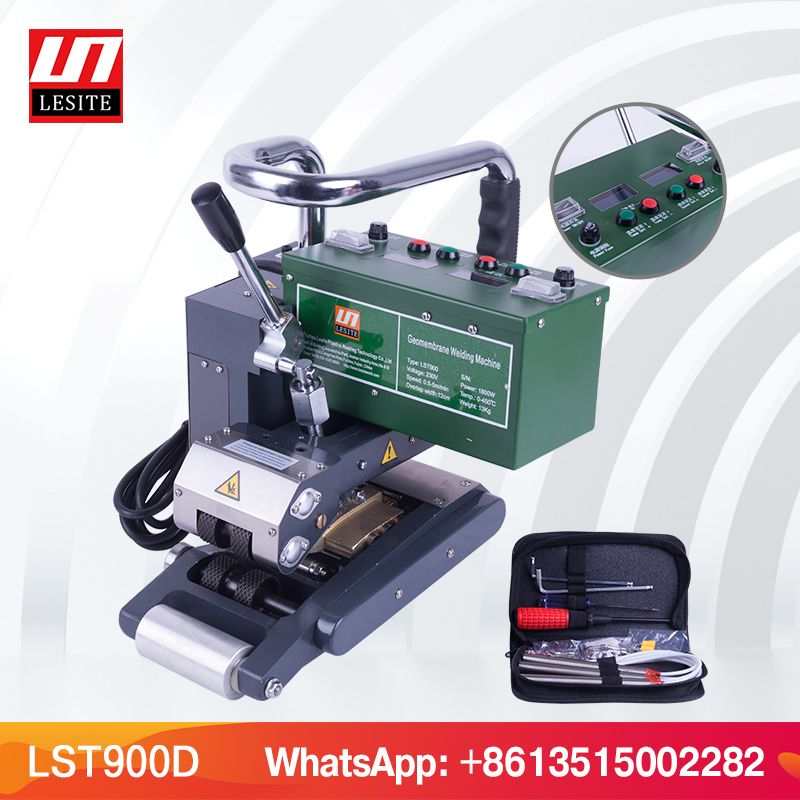LESITE LST900 Hdpe-dichtungsbahn Schweißen Maschine Naht Abdichtung Heißer keil schweißer Automatische überlappung membran schweißer für deponie