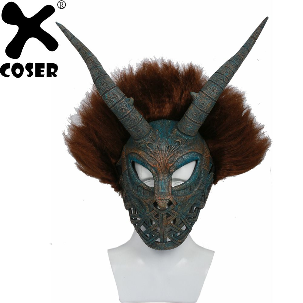 XCOSER Hot Movie Black Panther Erik Killmonger Mask Cosplay Costume Prop WCS Professional Party Cosplay Costume Accessory