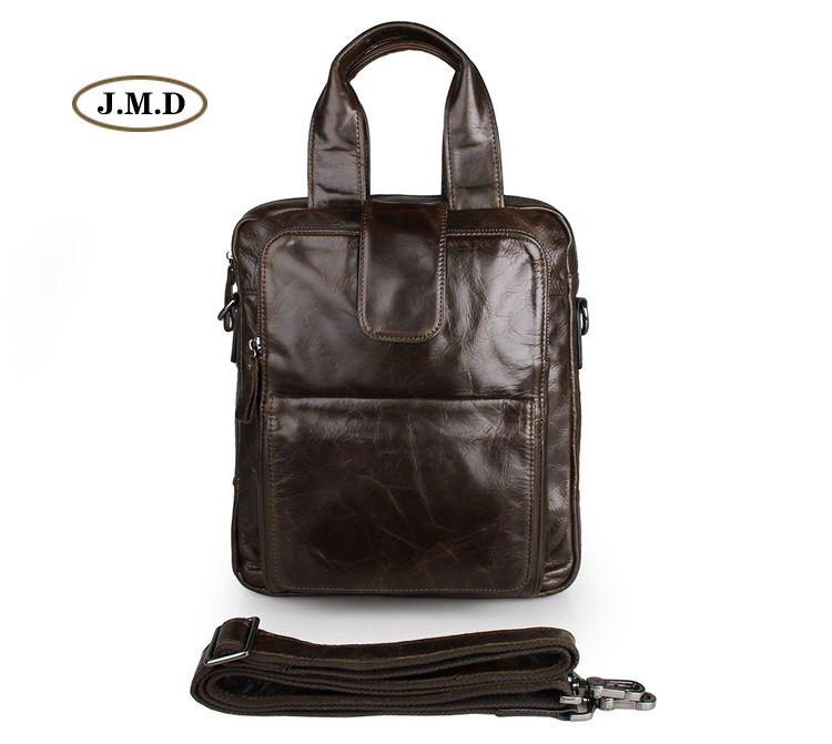 JMD Aus Echtem Leder Kaffee Farbe Handtasche Multifunktionale Business Shouder Tasche Laptop-tasche Handtasche Tragbaren Tasche 7266C