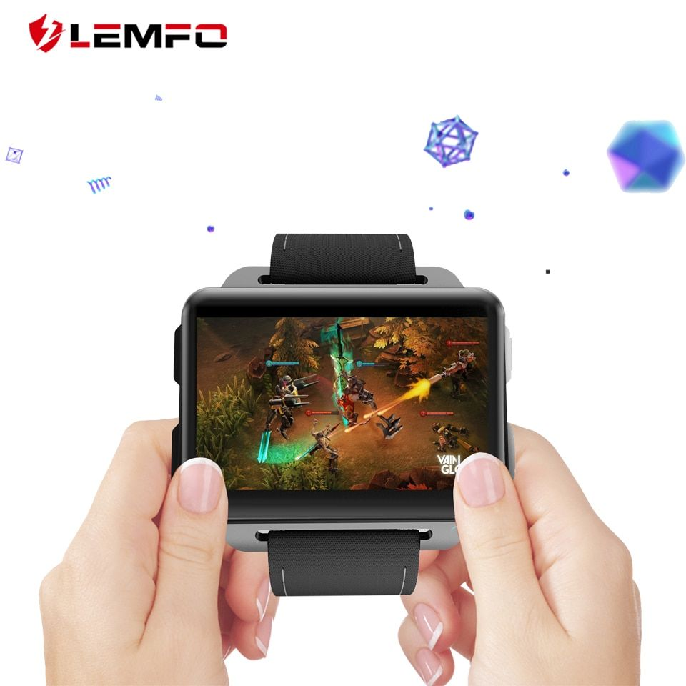 LEMFO LEM4 PRO Smartwatch Watches Men Support Android IOS SIM Card Blutooth Handsfree Calls <font><b>Camera</b></font> GPS Apple Watch