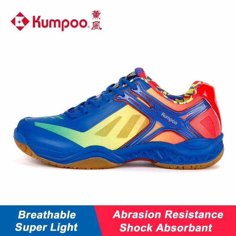 2017 New Kumpoo Badminton Shoes  for Women and Men Breathable Antiskid Shock Absorbant Athletic Sports Sneakers KH-159 L790