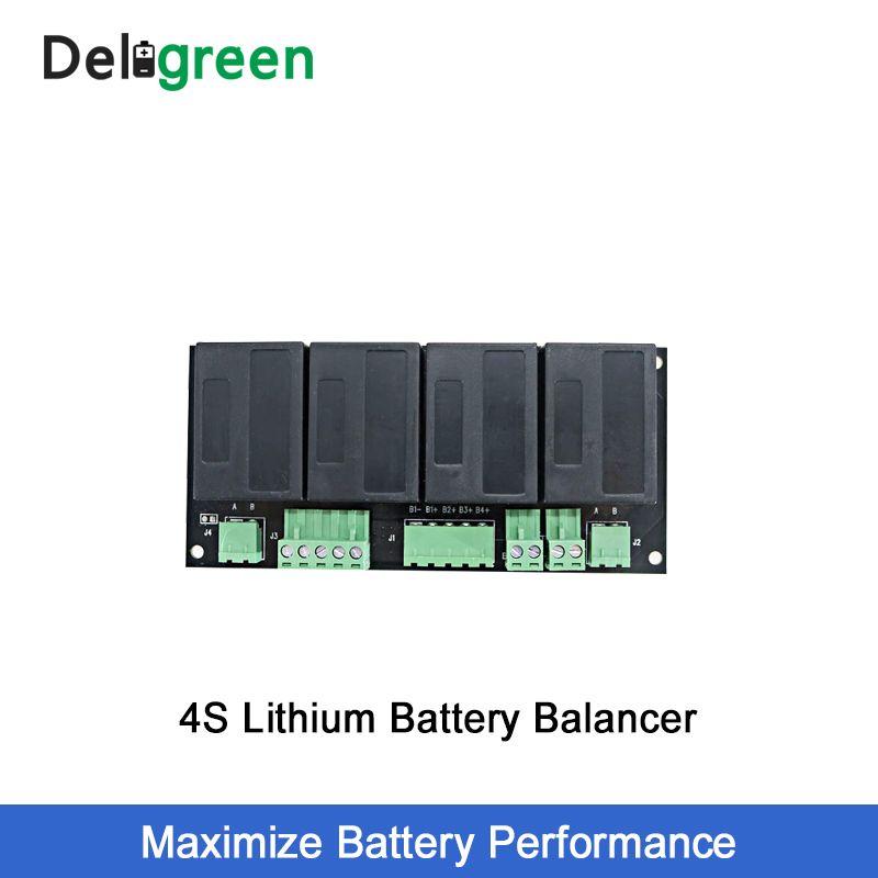 QNBBM 4 S 12 V Lithium-Batterie Equalizer Balancer BMS für Li-Ion LiFePO4 LTO LiNCM LMO 18650 DIY Pack Schutz