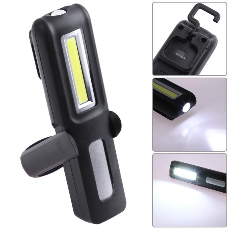 COB LED Outdoor USB Rechargeable Battery Portable Holder Flashlight Magnetic Hanging Work Light Torch Camping Emergency Lamp