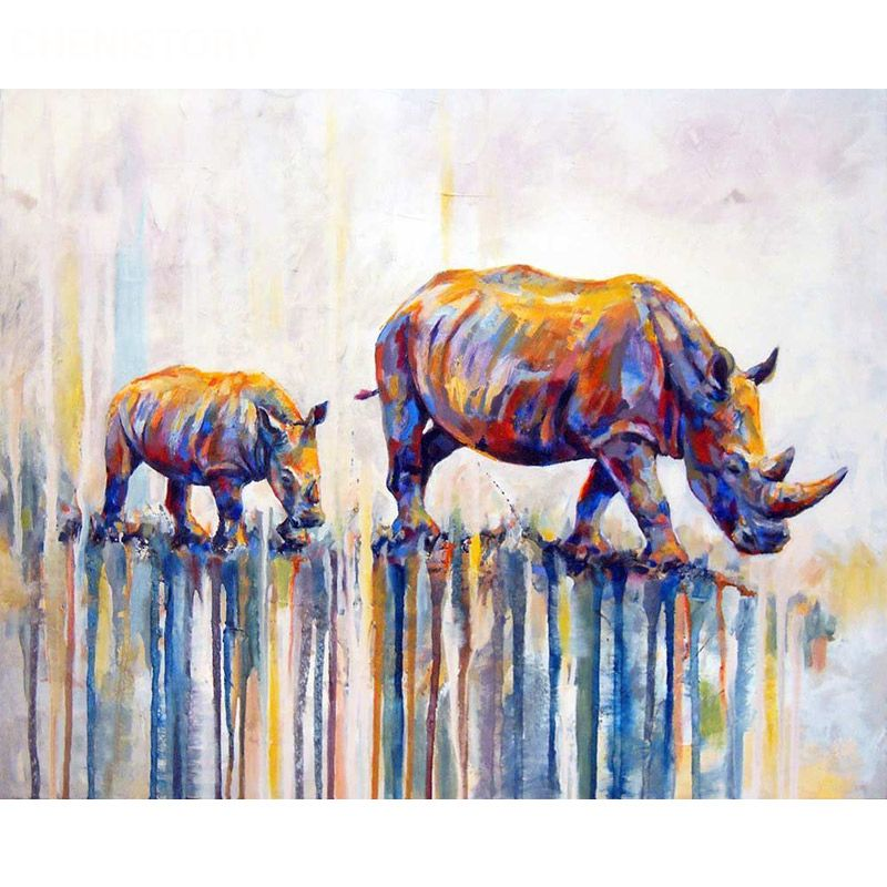 Peinture par numéros bricolage livraison directe 40x50 50x65cm peint bétail tendant Animal toile mariage décoration Art photo cadeau