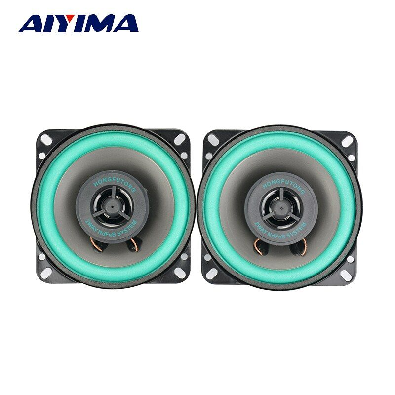 2Pcs 4Inch Car Audio Tweeter Speakers 4Ohm 40W Coaxial Full Frequency Dual Car Audio High Speakers