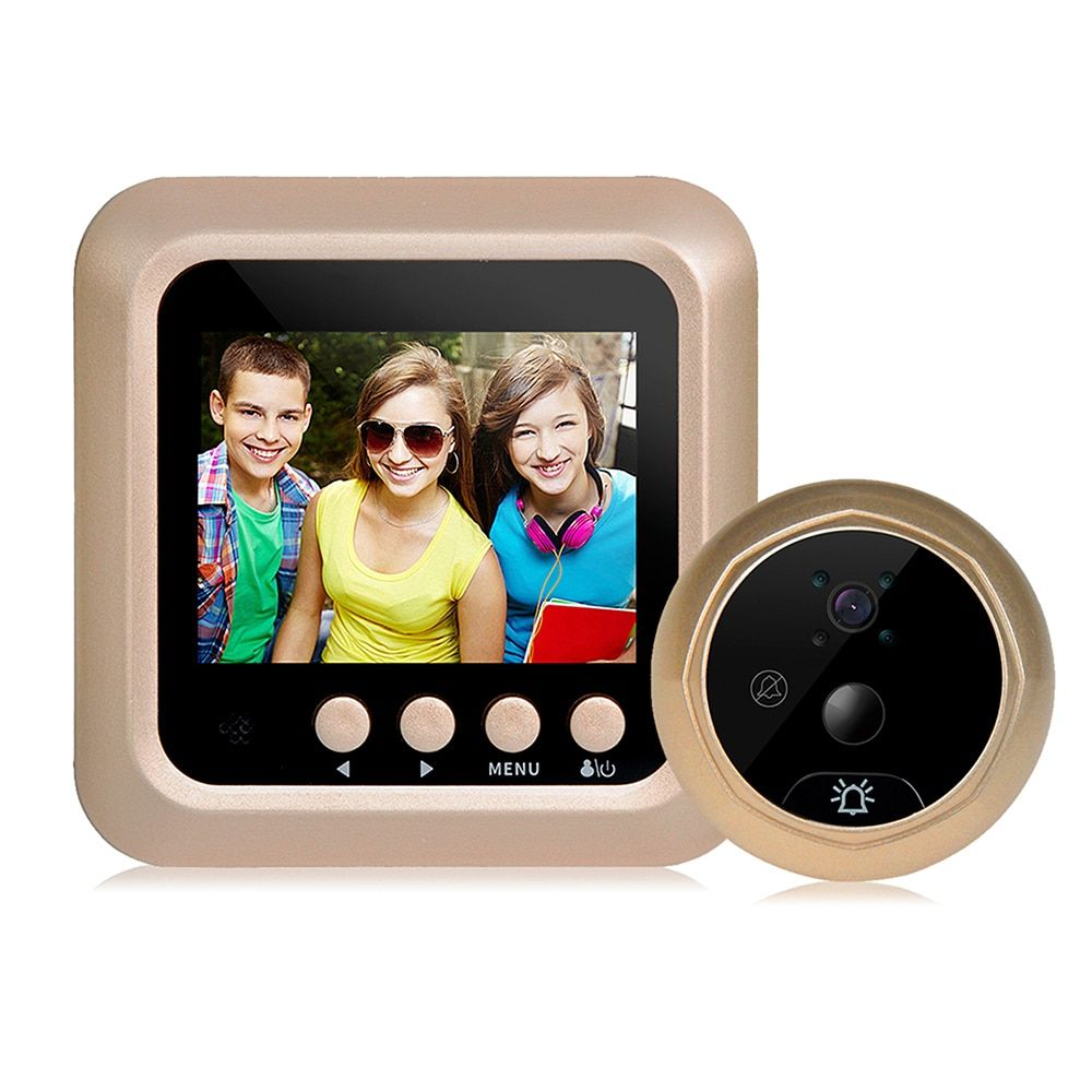2.4 дюймов ЖК-дисплей видео-глаз визуальный Мониторы дверной глазок движения зондирования Камера угол обзора 160 градусов Беспроводной видео ...