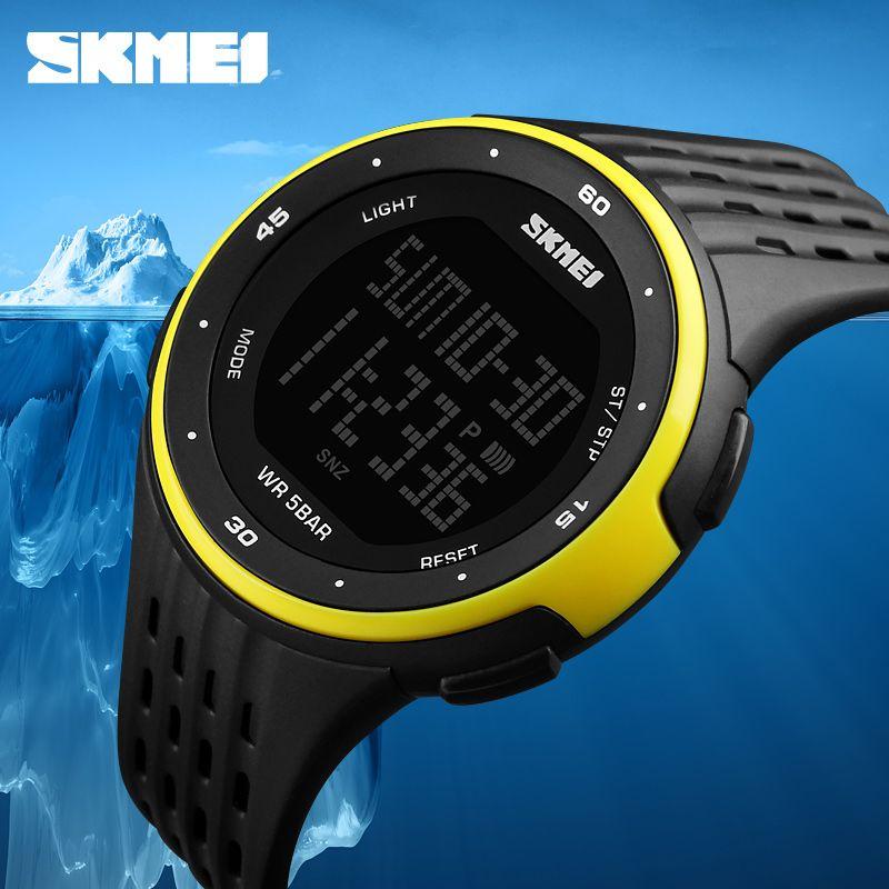 Men Sport Watches SKMEI Brand 50m Waterproof Digital LED Military Watch Women Outdoor Electronics Wristwatches Relogio <font><b>Masculino</b></font>