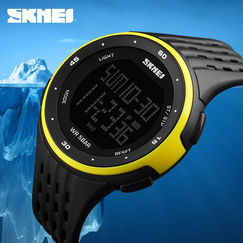 Men Sport Watches SKMEI Brand 50m Waterproof Digital LED <font><b>Military</b></font> Watch Women Outdoor Electronics Wristwatches Relogio Masculino