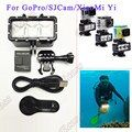 Accessories GoPro Underwater Light Diving waterproof LED light+Battery For GoPro Hero 5 6 Session Hero4 3+3 Xiaomi Yi SJ4000