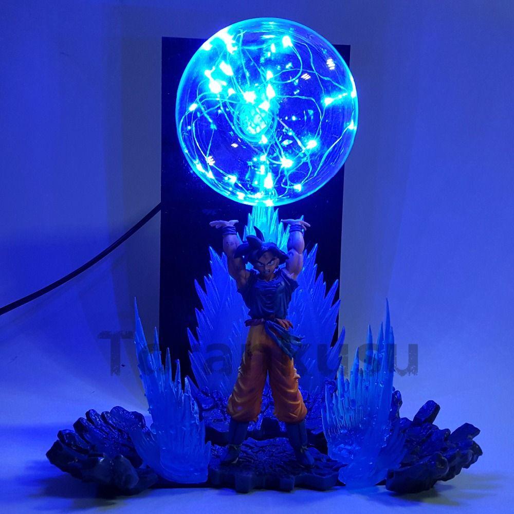 Dragon Ball Z Son Goku Spirit Bomb DIY LED Night Lights Anime Dragon Ball Z DBZ Led Table Lamp Son Goku Action Figure Doll