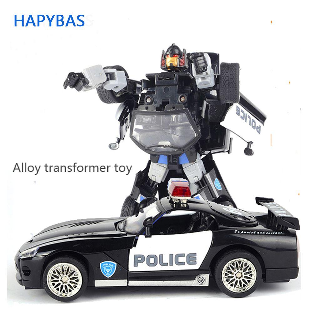 Alliage haute qualité Robocar Robot Transformation Voiture Jouets Alliage Déformation Robot Bus Jouets Pour Enfants enfants De Noël jouet