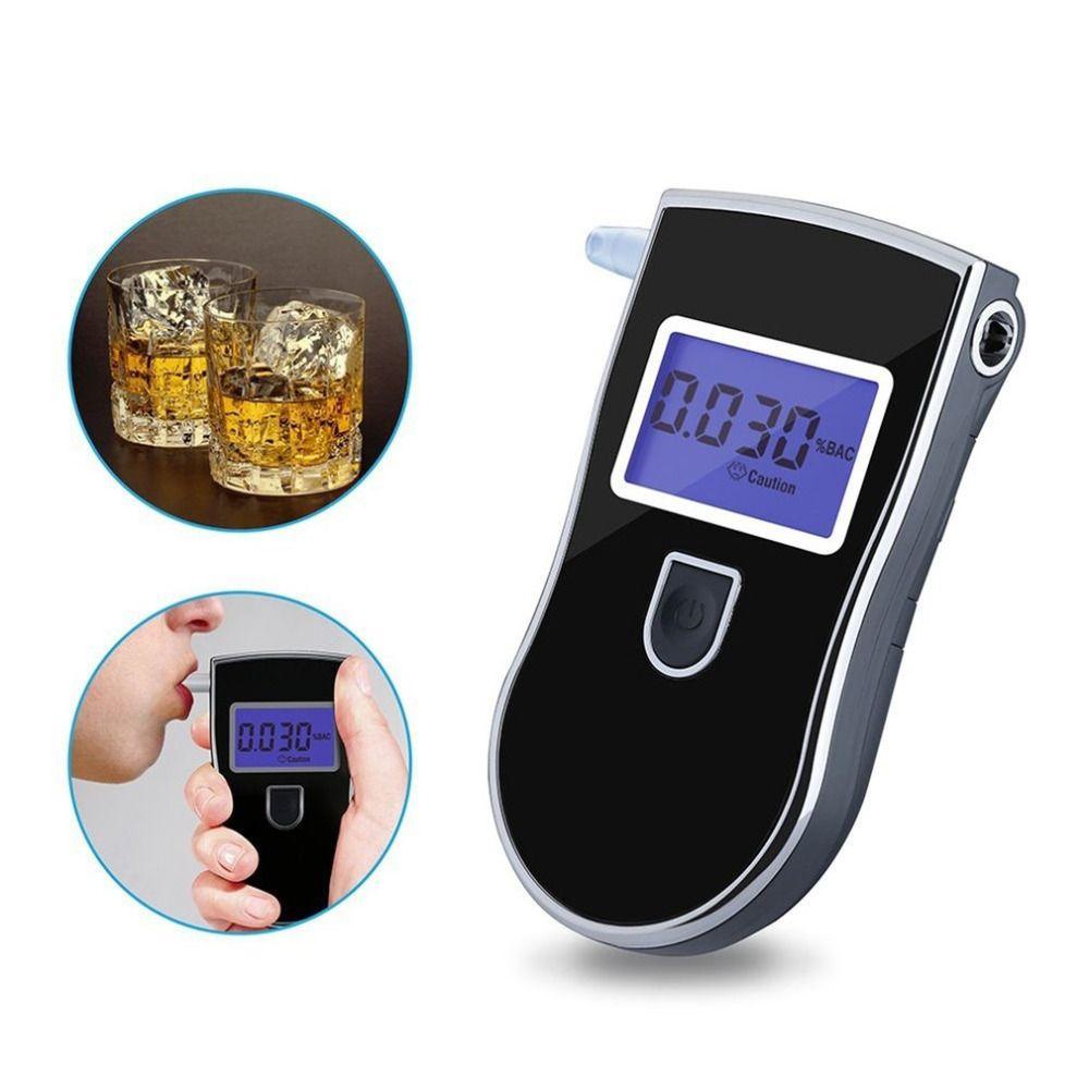 2019 alcootest analyseur détecteur numérique LCD capteur d'alcool testeur d'haleine avec 5 pièces de bouche jetables 818