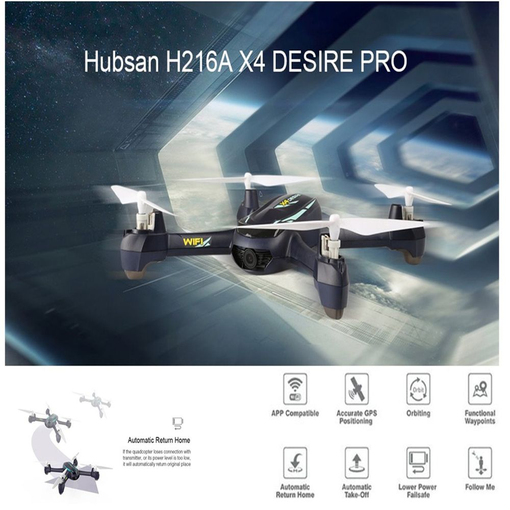 Hubsan H216A X4 DESIRE PRO RC Drone Helicopter 1080P WiFi Camera Altitude Hold Waypoints Headless Mode Remote Control Quadcopter