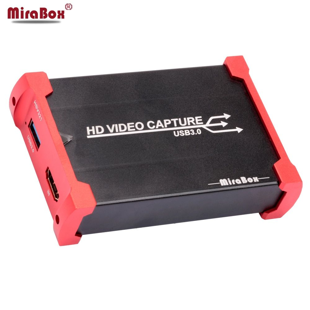 MiraBox HDMI Game Capture Card for Youtube Live Streaming USB 3.0 HD Video Youtube Capture Device for PS3 PS4 XBox 360
