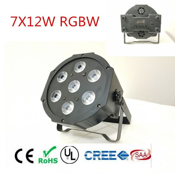 RGBWA UV <font><b>rgbw</b></font> 4in1 5in1 6in1 LED DJ Wash Light Stage Uplighting 7X12W 7x18W 7x15W LED Flat SlimPar Quad Light No Noise
