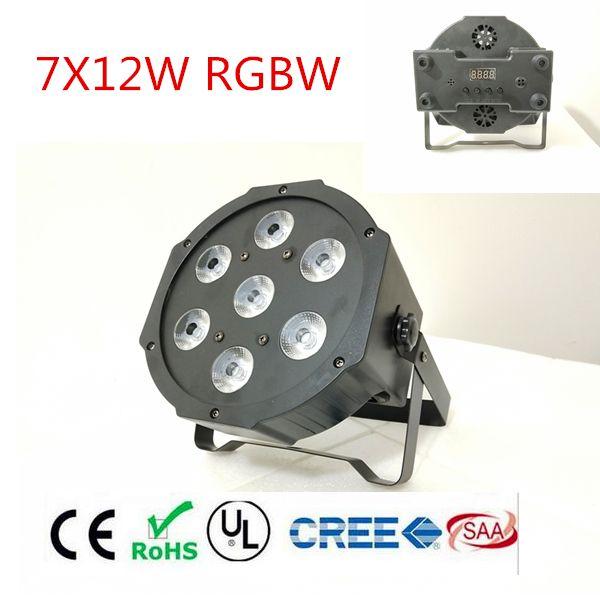RGBWA UV rgbw 4in1 5in1 6in1 LED DJ Wash Light Stage Uplighting 7X12W 7x18W 7x15W LED Flat SlimPar Quad Light No Noise