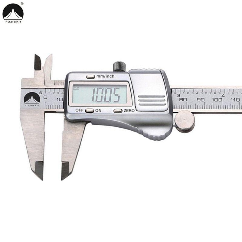 Pied à coulisse numérique FUJISAN 0-150mm/0.01 pieds à coulisse électroniques en acier inoxydable outil micrométrique métrique/pouce