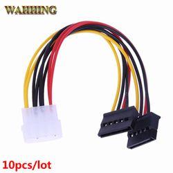 10pcs Serial ATA SATA 4 Pin IDE Molex to 15 Pin HDD Power Adapter Cable Hard Drive Adapter HY416