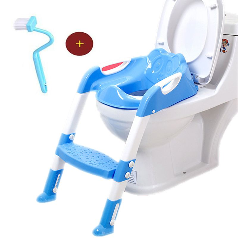 Baby <font><b>Toilet</b></font> Seat Baby Folding Potty Trainer Seat Chair Step With Adjustable Ladder Child Potty Seat <font><b>Toilet</b></font> With Free Brush