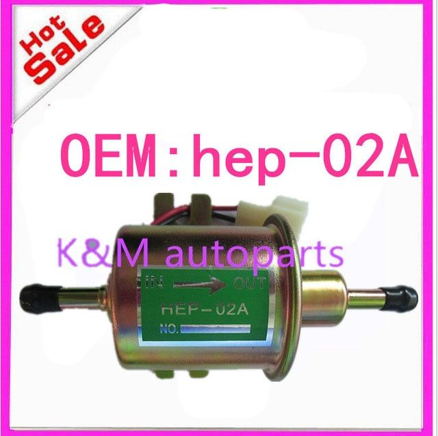 High quality free shipping Universal Diesel Petrol Gasoline Electric Fuel Pump HEP-02A Low Pressure 12V  HEP02A K-M