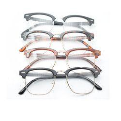 Modern Baru Fashion Desain Lucu Unisex VINTAGE Retro Lensa Kacamata Setengah Bingkai Jelas Aneh Pecandu Kacamata Kacamata Hadiah Terbaik