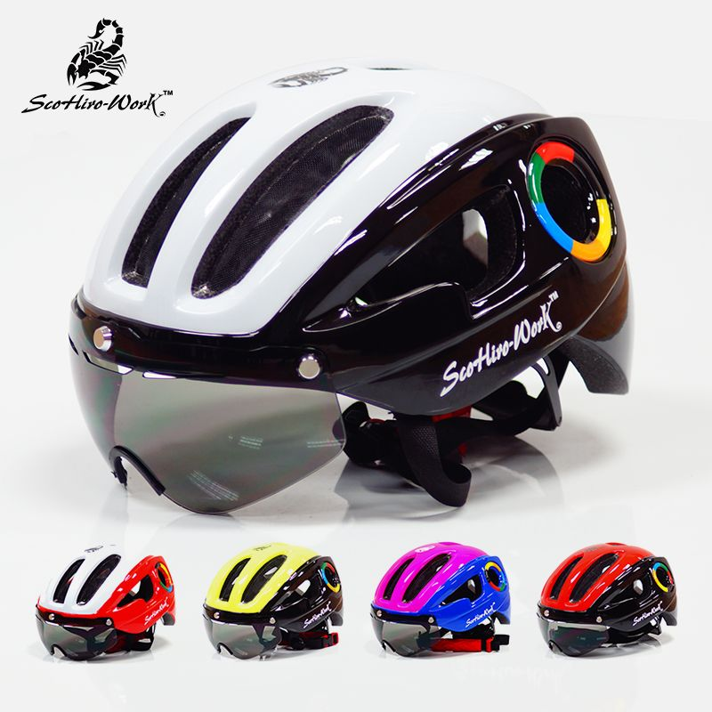 270g ultralight EPS bicycle helmet for men road mtb mountain bike helmet lenses goggles cycling equipment 9 vents Casco Ciclismo