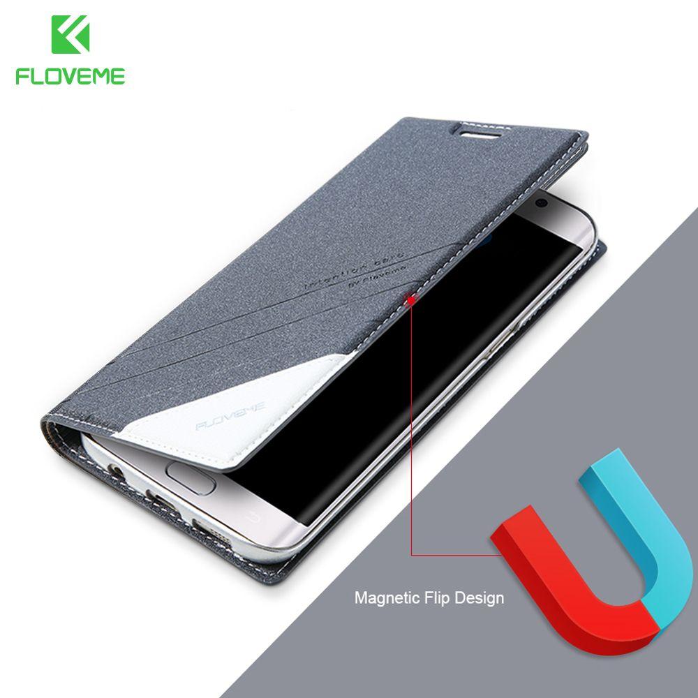 FLOVEME Cas Pour Samsung S8 Plus Pour Samsung Galaxy S6 S7 bord Note 5 8 Cas En Cuir Portefeuille Cas de Téléphone Titulaire de la Carte couverture