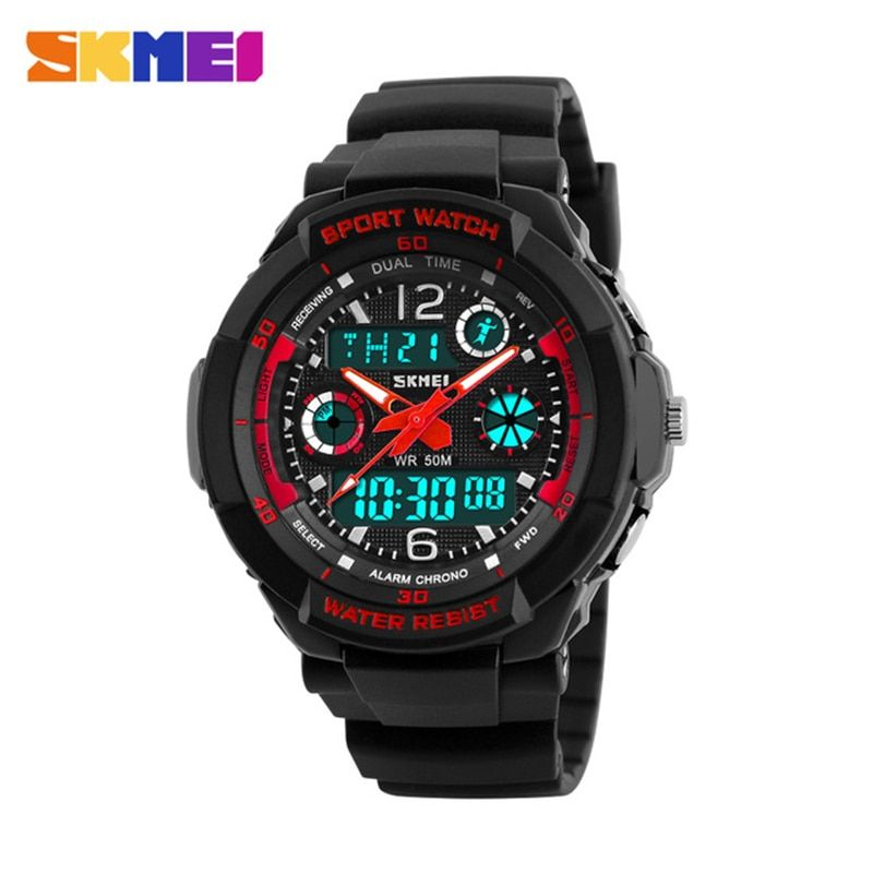 Skmei Children Sport Watches Military Fashion Kids Quartz Led Display Digital Watch Relogio Relojes Boys Waterproof Wristwatches