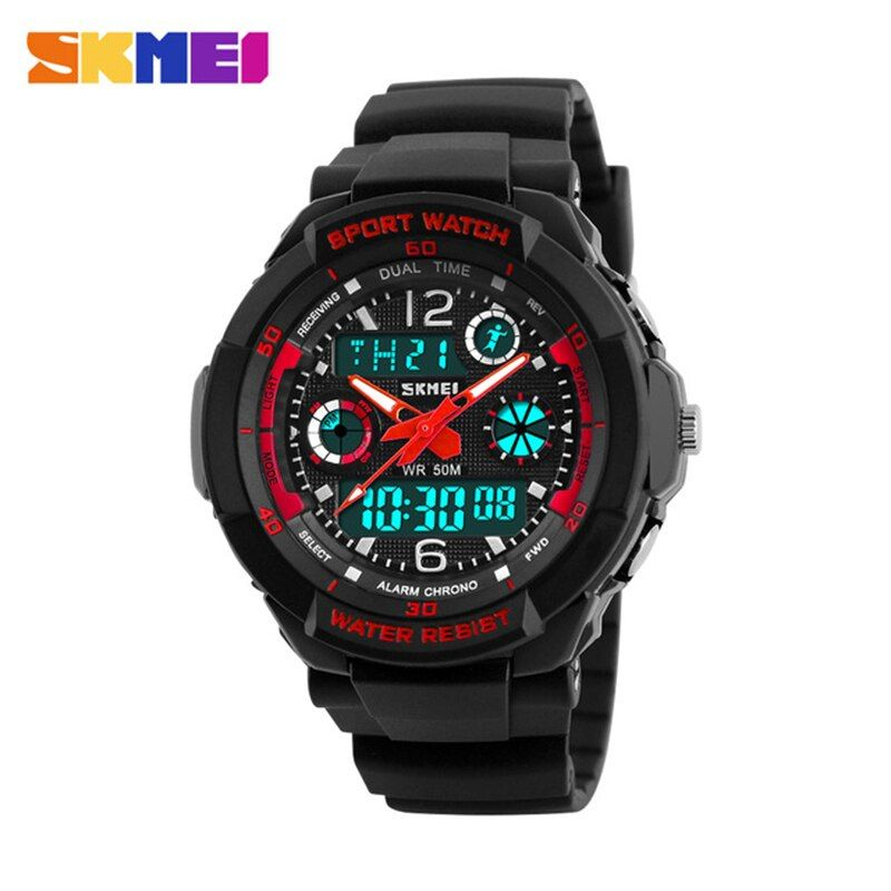 Skmei <font><b>Children</b></font> Sport Watches Military Fashion Kids Quartz Led Display Digital Watch Relogio Relojes Boys Waterproof Wristwatches
