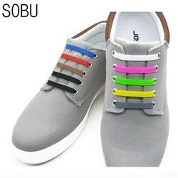 12Pcs/Lot NEW Elastic Silicone Lace No-Tie Silicone Shoelaces Creative Rubber Shoelaces For Unisex For Kids K052