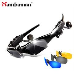 Mambaman Bluetooth Sun glasses Headset Outdoor Glass Earbuds Music with Mic Stereo Wireless Headphone for iPhone Samsung xiaomi