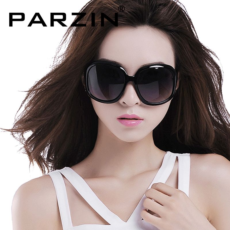 Parzin Polarized Sunglasses Women Retro Female Sun Glasses Brand Design Oversized Glasses Shades Gafas De Sol With Case 6216