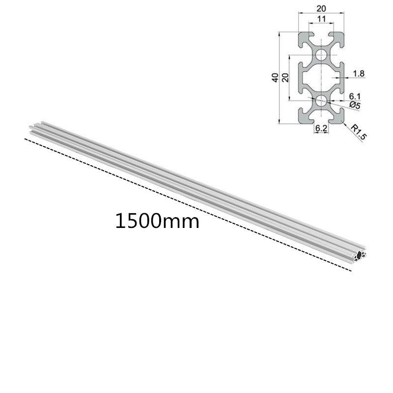 1 stück Länge 1500mm 2040 T-Slot Aluminium Profile Extrusion Rahmen Für CNC 3D Drucker Plasma Laser Steht möbel