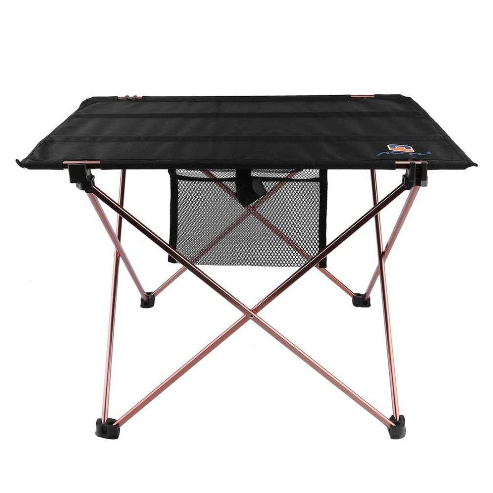 Outdoor Folding Table Aluminium Alloy Picnic Camping Desk Table Roll Up Durable Waterproof Lightweight with Carrying Bag